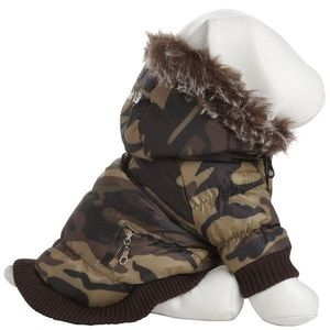 pet life camoflauge thinsulate dog parka